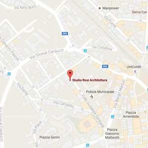 studio architettura rosi dove siamo a Poggibonsi in provincia di Siena